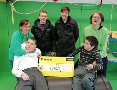 Der Verein KULTUNION spendet 1.000 Euro an Schritt für Schritt
