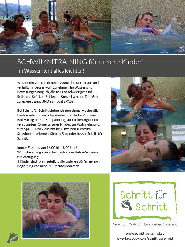 Schritt für Schritt Schwimmtraining Infofolder