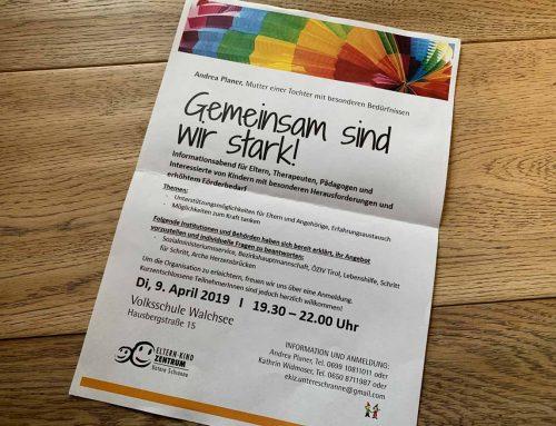 Informationsabend behindertes Kind in Walchsee