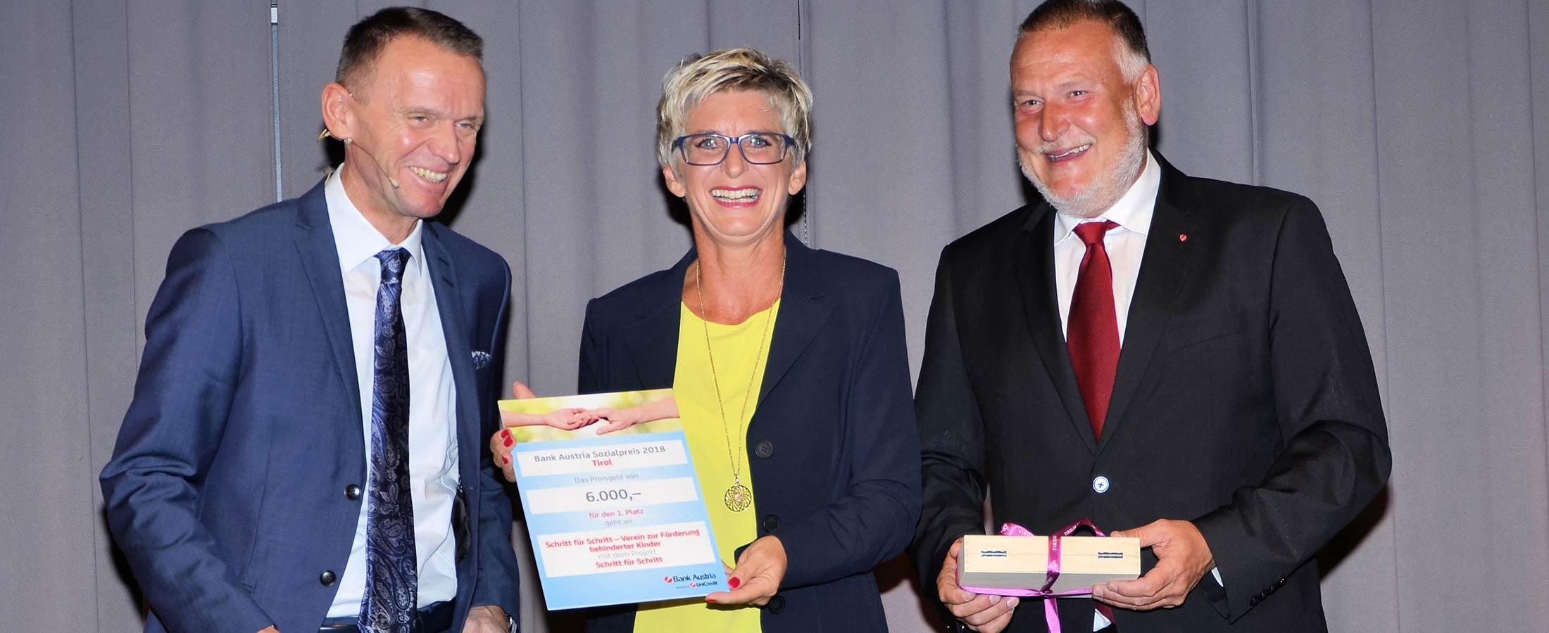Sozialpreis Bank Austria geht an Schritt für Schritt