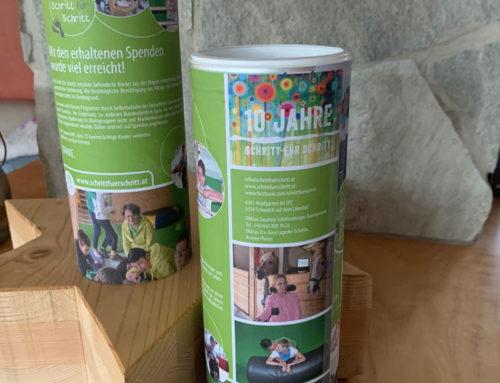 Spendenboxen in der Kaiserbäckerei Gschwendtner