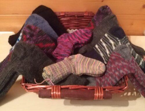 Woll-Socken für Schritt für Schritt